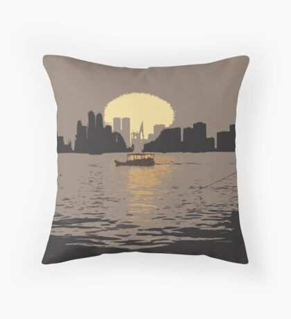 Listen To The Sunset Throw Pillow