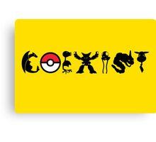 COEXIST 151 (for lighter tees 2.0) Canvas Print