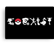 COEXIST (for darker tees 2.0) Canvas Print