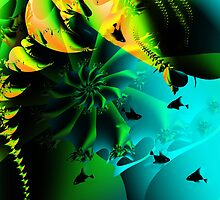 Fractal: whale love by Freda Surgenor
