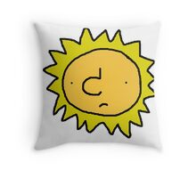 Unhappy Sun Throw Pillow