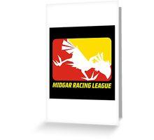 Midgar Racing League Greeting Card