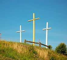 Crosses in Sugarcreek, Ohio by Tim White