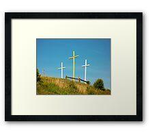 Crosses in Sugarcreek, Ohio Framed Print