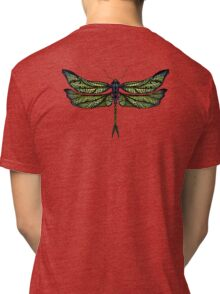 Dragonfly - Light Colours Tri-blend T-Shirt