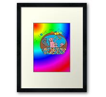 kitty kitty kittens Framed Print