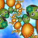 Inner Child - Lady Turtles Going For a Swim by lacitrouille