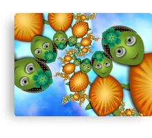 Inner Child - Lady Turtles Going For a Swim Canvas Print