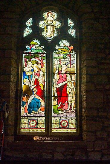 Window #1 - St Oswald's Church - Arncliffe by Trevor Kersley