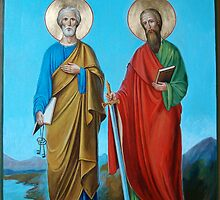 Apostles Peter and Paul  by Alla Melnichenko