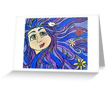Flowers in her hair Greeting Card