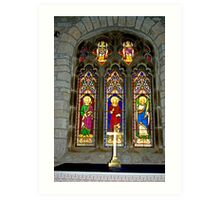 Window #2 - St Oswald's Church - Arncliffe Art Print