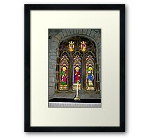 Window #2 - St Oswald's Church - Arncliffe Framed Print