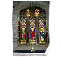 Window #2 - St Oswald's Church - Arncliffe Poster