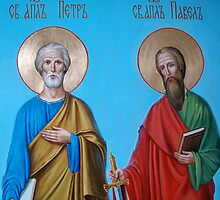 Apostles Peter and Paul (fragment) by Alla Melnichenko