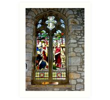 Window #3 - St Oswald's Church - Arncliffe Art Print