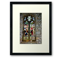 Window #3 - St Oswald's Church - Arncliffe Framed Print