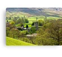 The Village Church at Burnsall Canvas Print