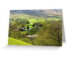 The Village Church at Burnsall Greeting Card