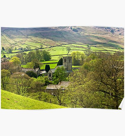 The Village Church at Burnsall Poster