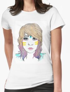 Blank Eyes Womens Fitted T-Shirt