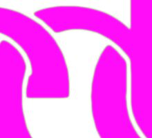 Electronic dance music pink Sticker