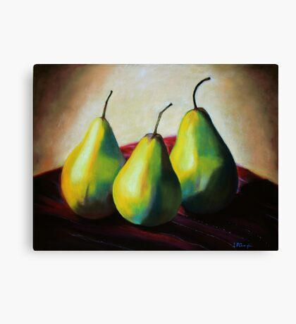 Trio of Pears Canvas Print