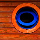 Round blue window - St Martin, DWI by Susana Weber
