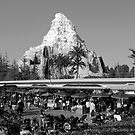 The Matterhorn, as viewed From Autopia - Disneyland by Michael  Bermingham
