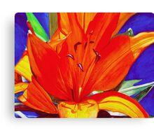Big Orange Lily Canvas Print