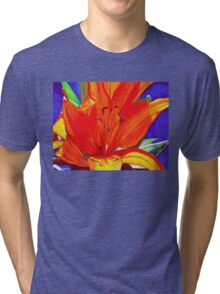 Big Orange Lily Tri-blend T-Shirt