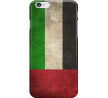 Old and Worn Distressed Vintage Flag of United Arab Emirates iPhone Case/Skin