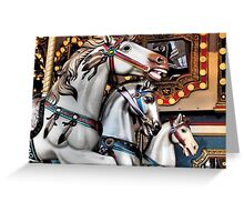 Vintage Horse Carousel Merry-Go-Round Ride  Greeting Card