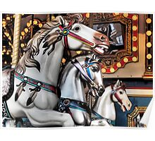 Vintage Horse Carousel Merry-Go-Round Ride  Poster
