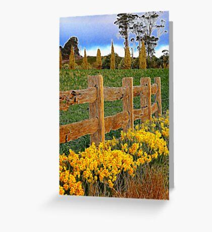 Springing into spring Greeting Card
