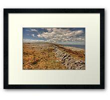 Burren limestone landscape Framed Print