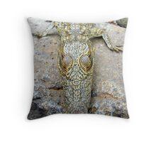 Nile Crocodile Throw Pillow