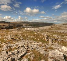 Burren limestone landscape by John Quinn