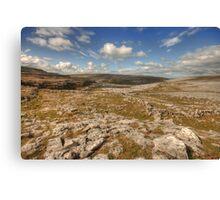 Burren limestone landscape Canvas Print