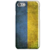 Old and Worn Distressed Vintage Flag of Ukraine iPhone Case/Skin