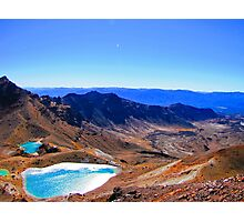 The Emeralds of Tongariro Photographic Print