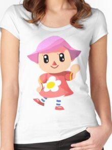 Friendly Female Villager Women's Fitted Scoop T-Shirt