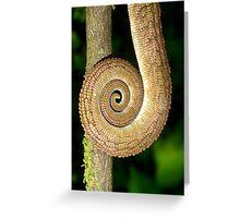Chameleon Tail Greeting Card