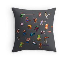 Champions of the NES! Throw Pillow
