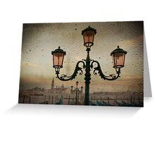 Venise after rain Greeting Card