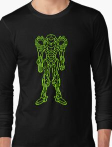 Super Metroid Schematic Long Sleeve T-Shirt