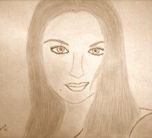 Self Portrait Sepia Tone by Shanna J. S. Dunlap