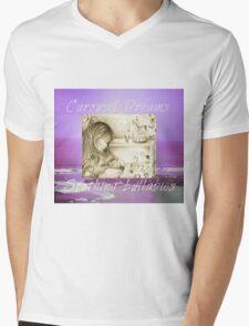 Vintage Carousel Dreams Purple Ocean & Sky Large Mens V-Neck T-Shirt