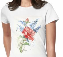 A Singing Rose Womens Fitted T-Shirt
