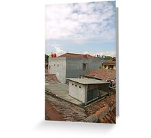 suburban house Greeting Card